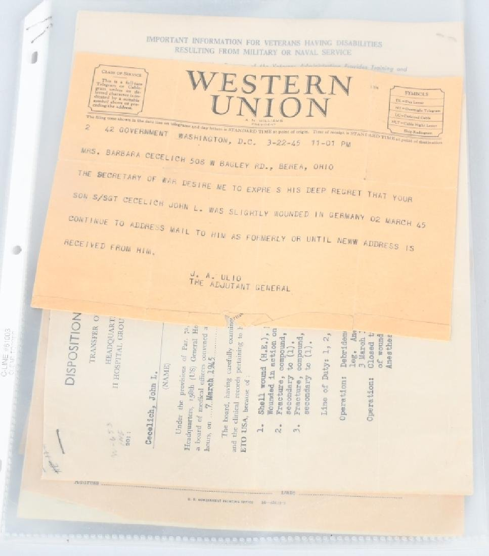 WWII U.S. PURLPE HEART GROUP - BEREA OHIO SOLDIER - 7