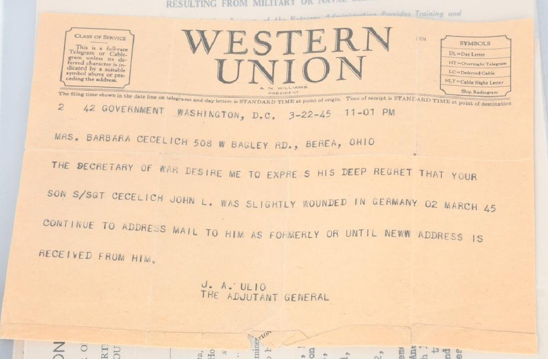 WWII U.S. PURLPE HEART GROUP - BEREA OHIO SOLDIER - 8