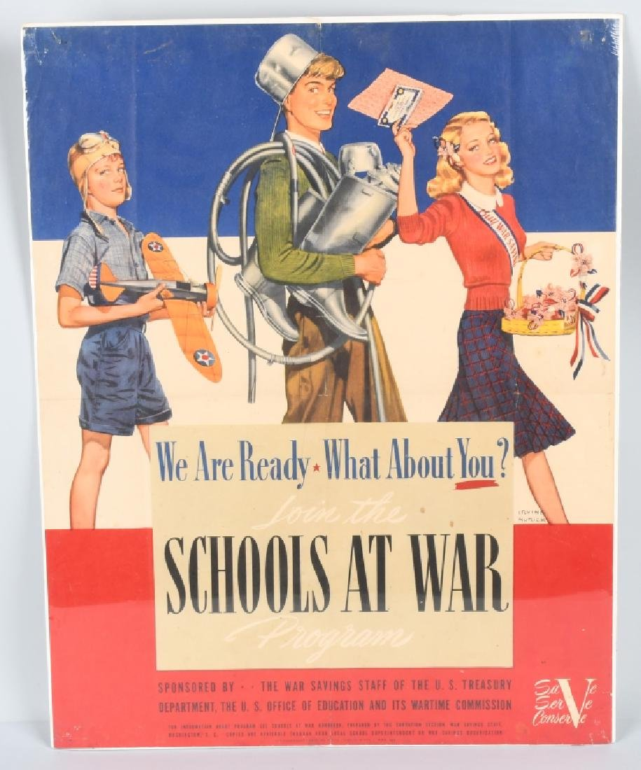 "WWII U.S. ""SCHOOLS AT WAR"" POSTER - IRVING NURICK"