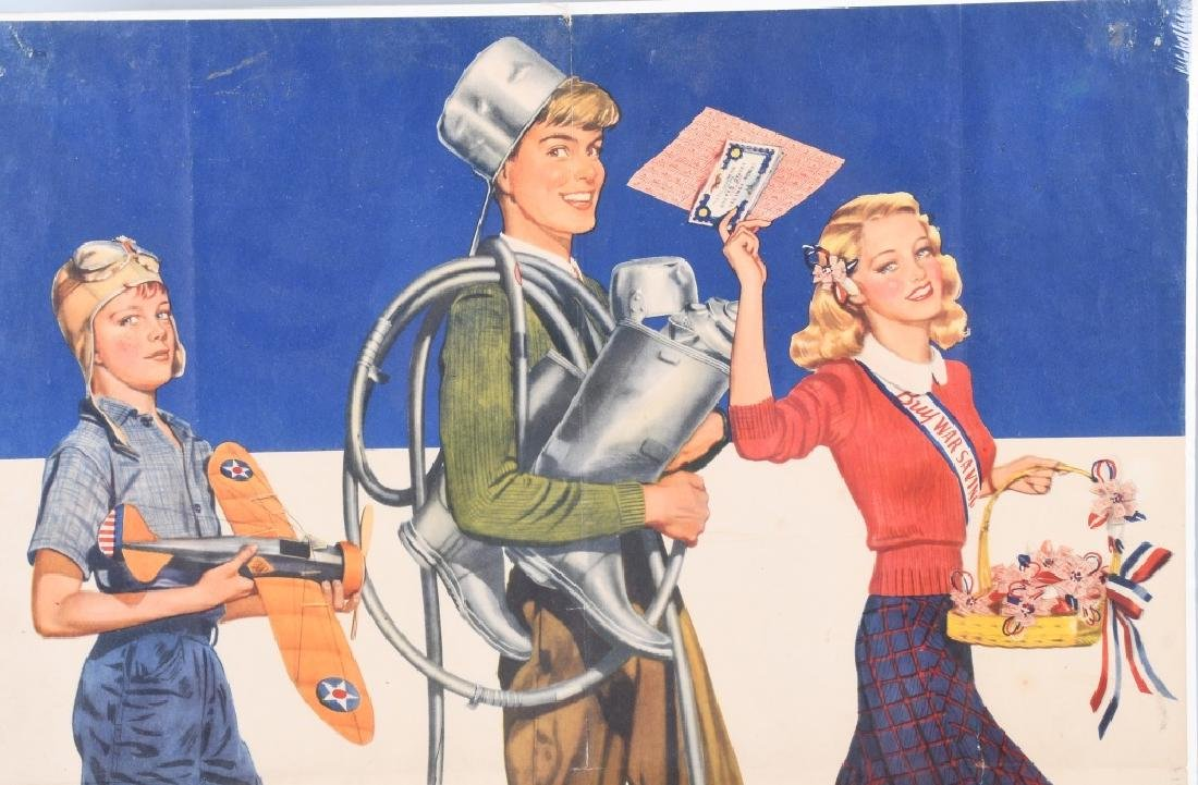 "WWII U.S. ""SCHOOLS AT WAR"" POSTER - IRVING NURICK - 2"