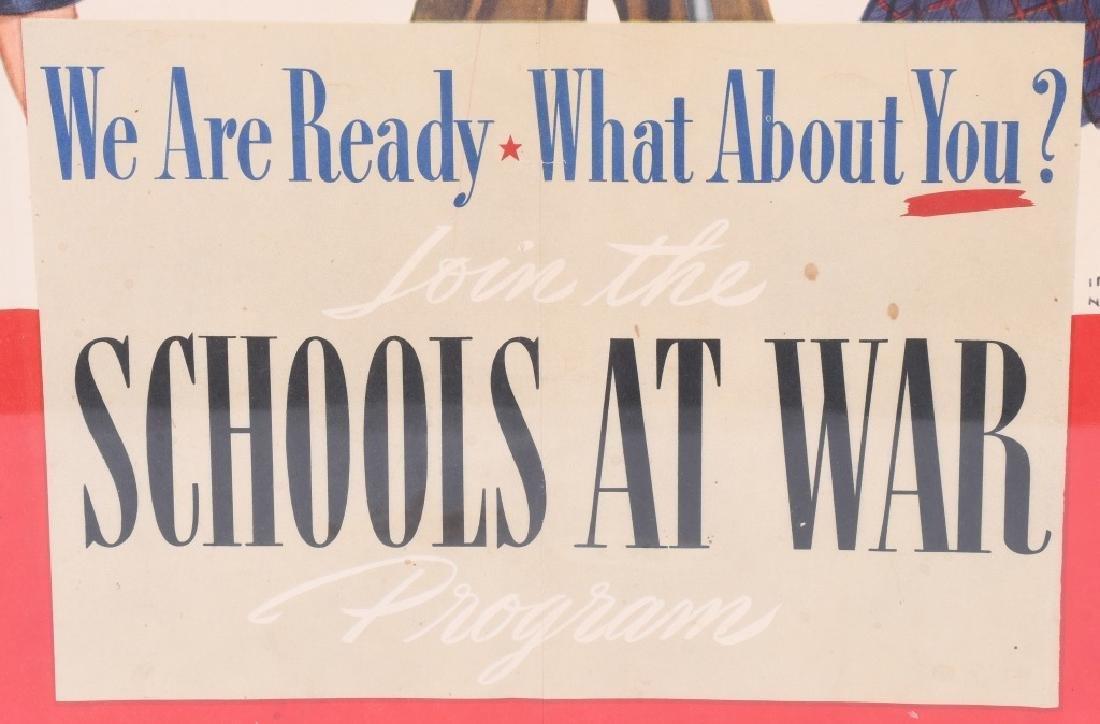 "WWII U.S. ""SCHOOLS AT WAR"" POSTER - IRVING NURICK - 3"