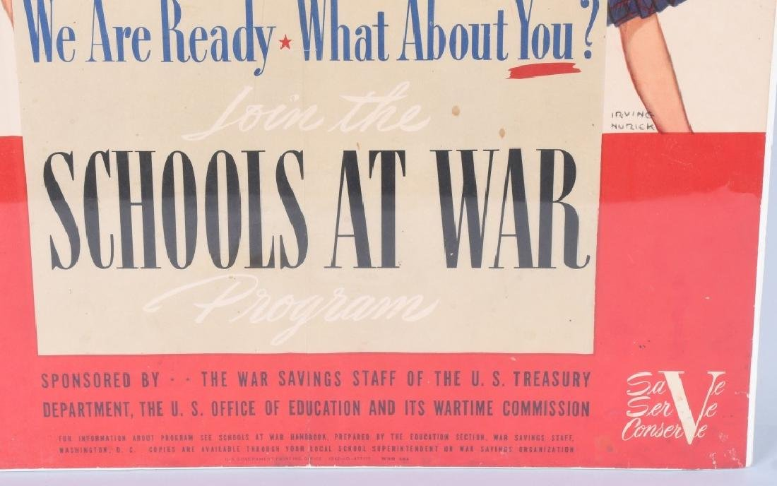 "WWII U.S. ""SCHOOLS AT WAR"" POSTER - IRVING NURICK - 4"
