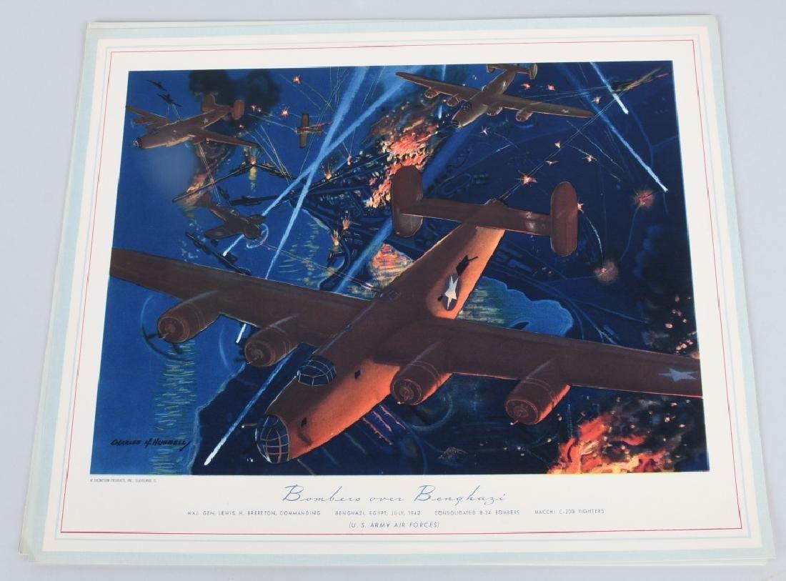 WWII U.S. AAC LARGE PHOTO B-24 BOMBER + 12 LITHOS - 10