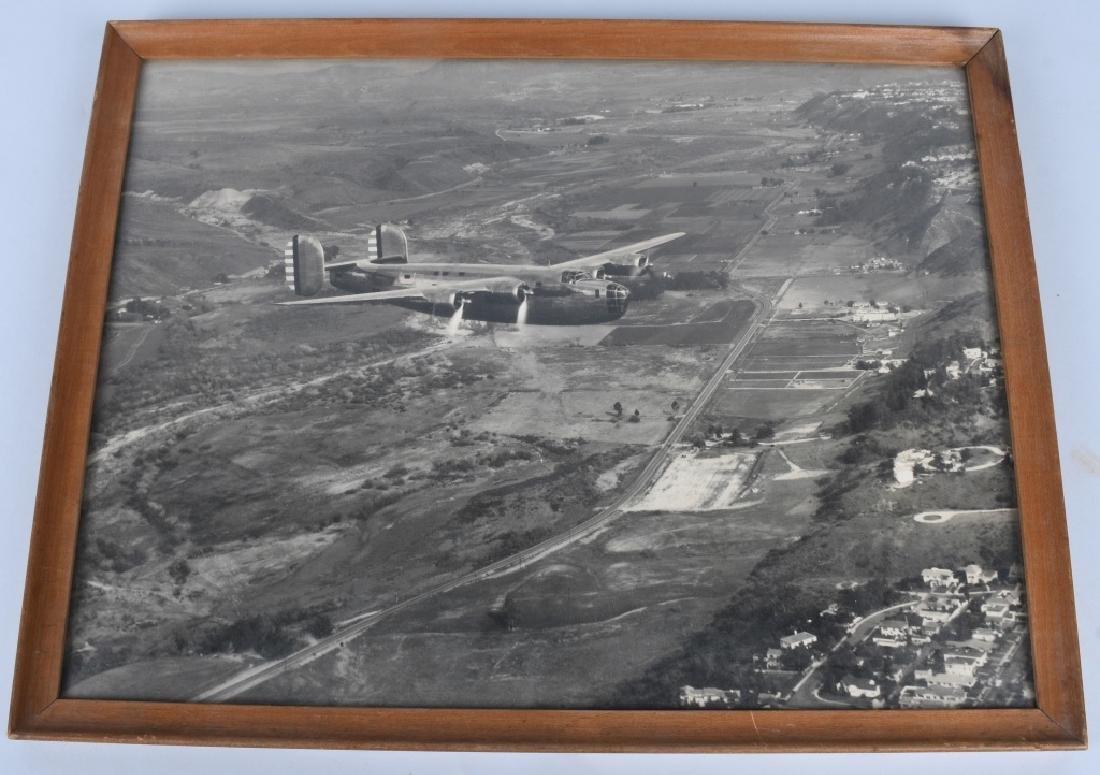 WWII U.S. AAC LARGE PHOTO B-24 BOMBER + 12 LITHOS - 2
