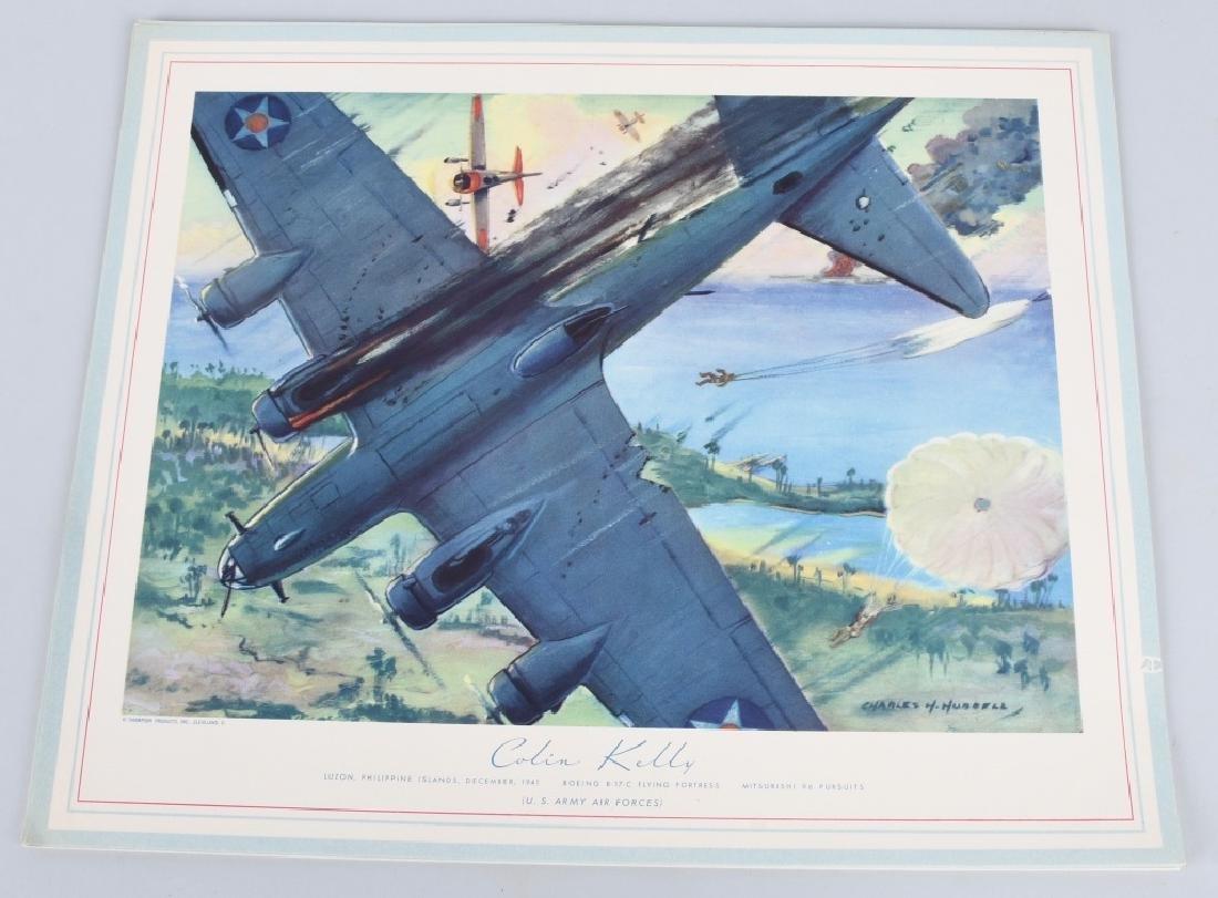 WWII U.S. AAC LARGE PHOTO B-24 BOMBER + 12 LITHOS - 5