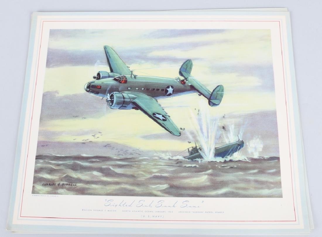 WWII U.S. AAC LARGE PHOTO B-24 BOMBER + 12 LITHOS - 6