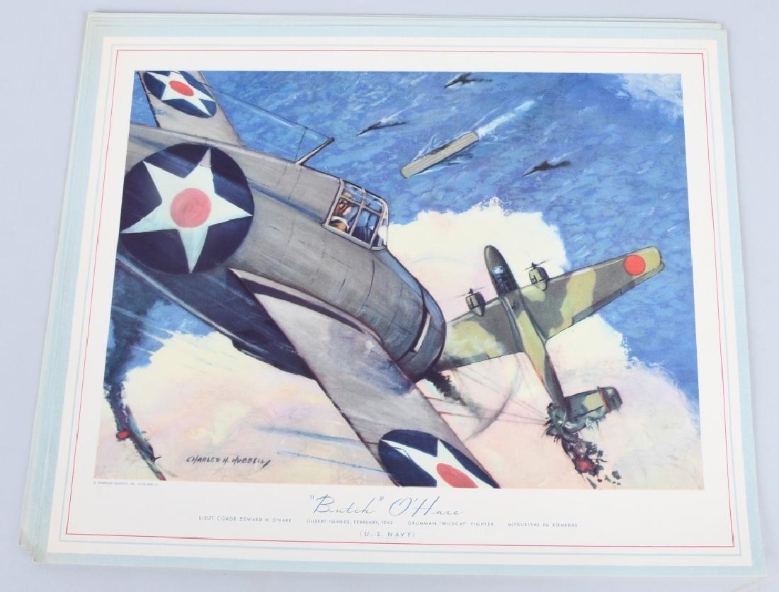 WWII U.S. AAC LARGE PHOTO B-24 BOMBER + 12 LITHOS - 8