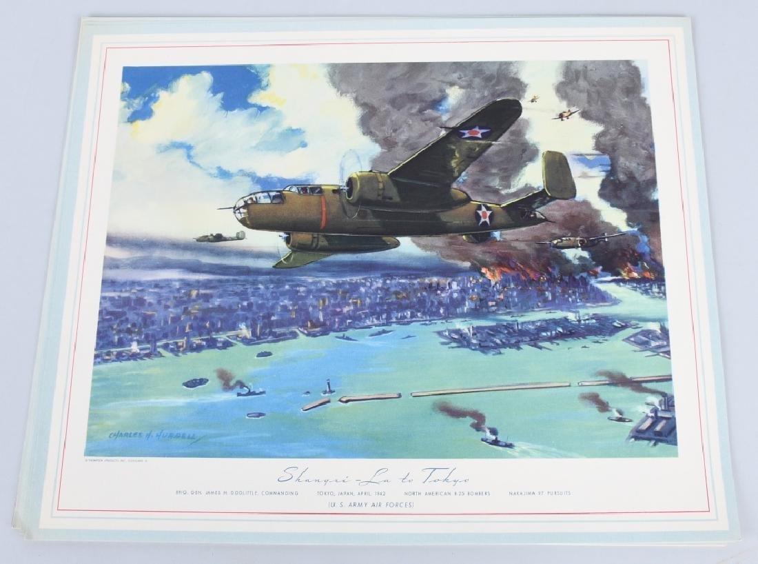 WWII U.S. AAC LARGE PHOTO B-24 BOMBER + 12 LITHOS - 9