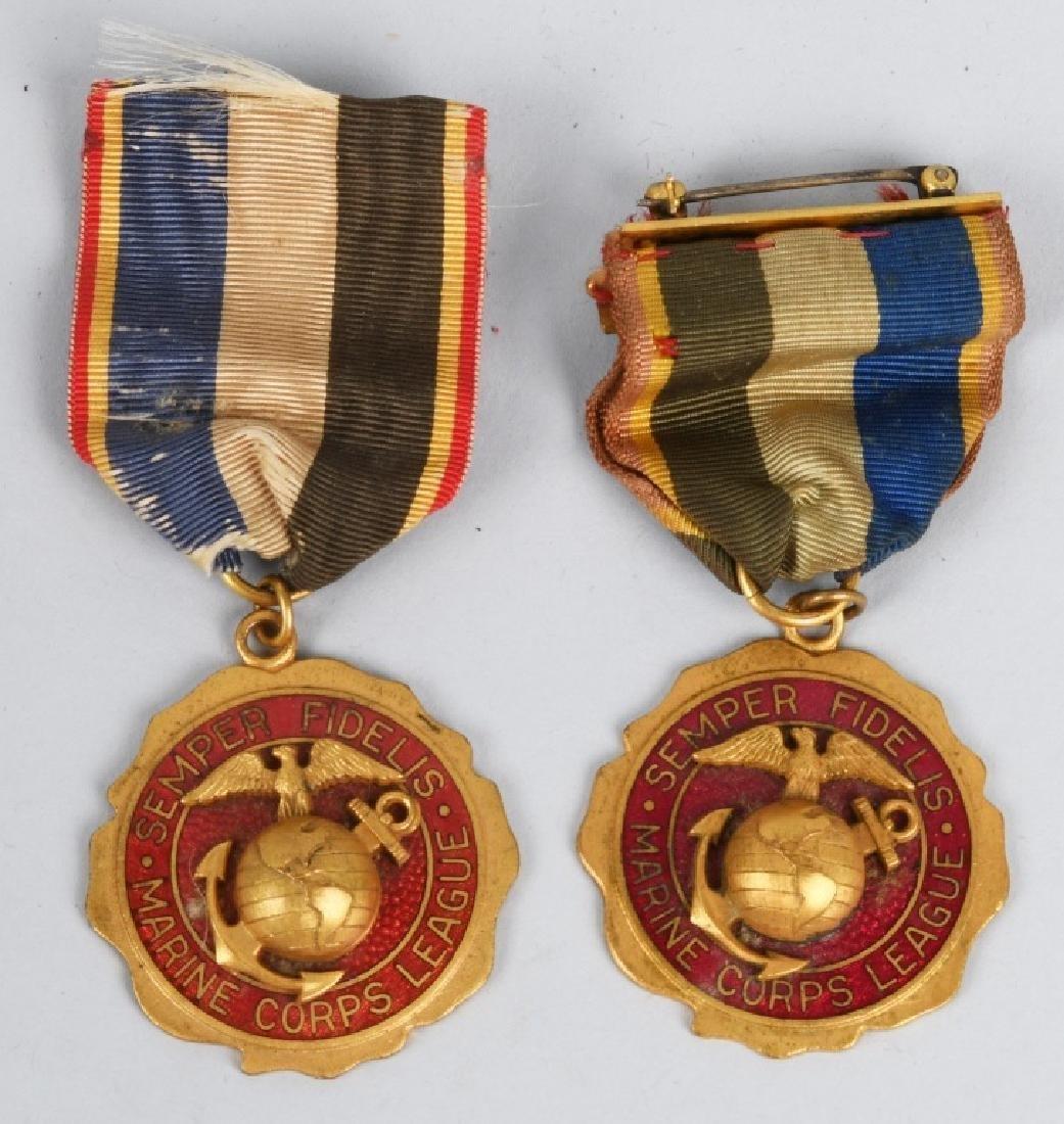 USMC VINTAGE MARINE CORPS LEAGUE - BADGES - MEDALS