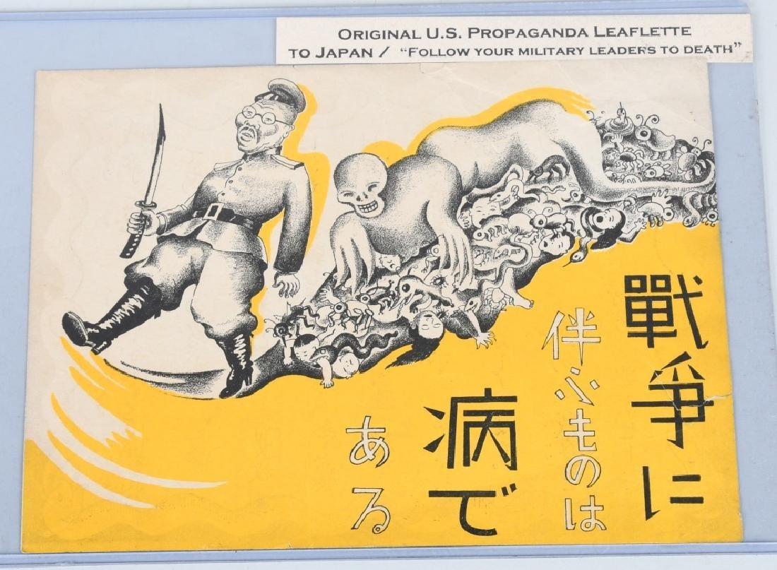 WWII U.S. AAF PROPAGANDA LEAFLETS DROPPED ON JAPAN - 2