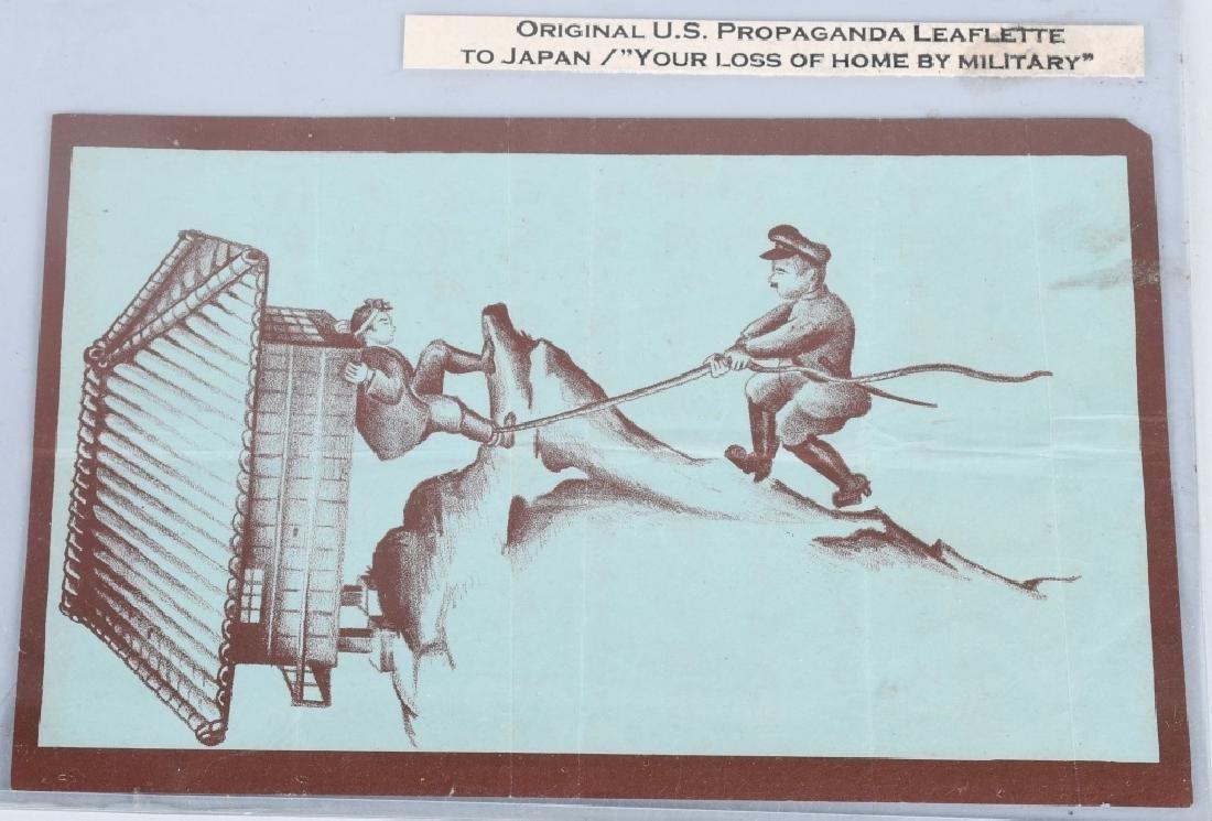 WWII U.S. AAF PROPAGANDA LEAFLETS DROPPED ON JAPAN - 4