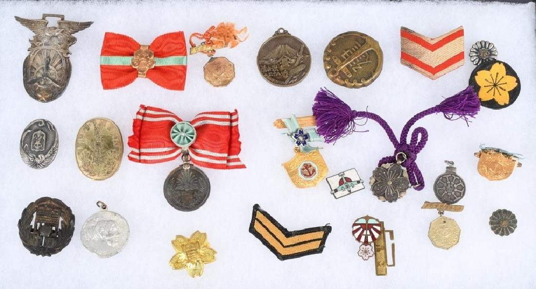 WWII JAPANESE MEDAL AND INSIGNIA LOT