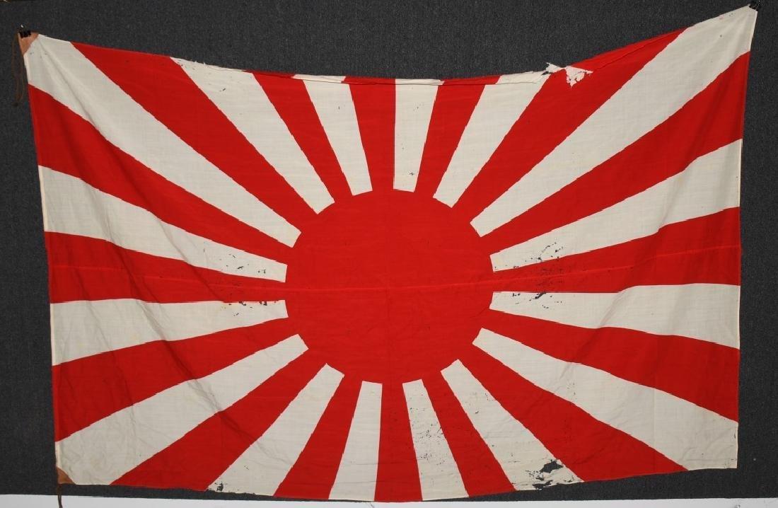 WWII JAPANESE RISING SUN FLAG & ARISAKA BAYONETS - 5