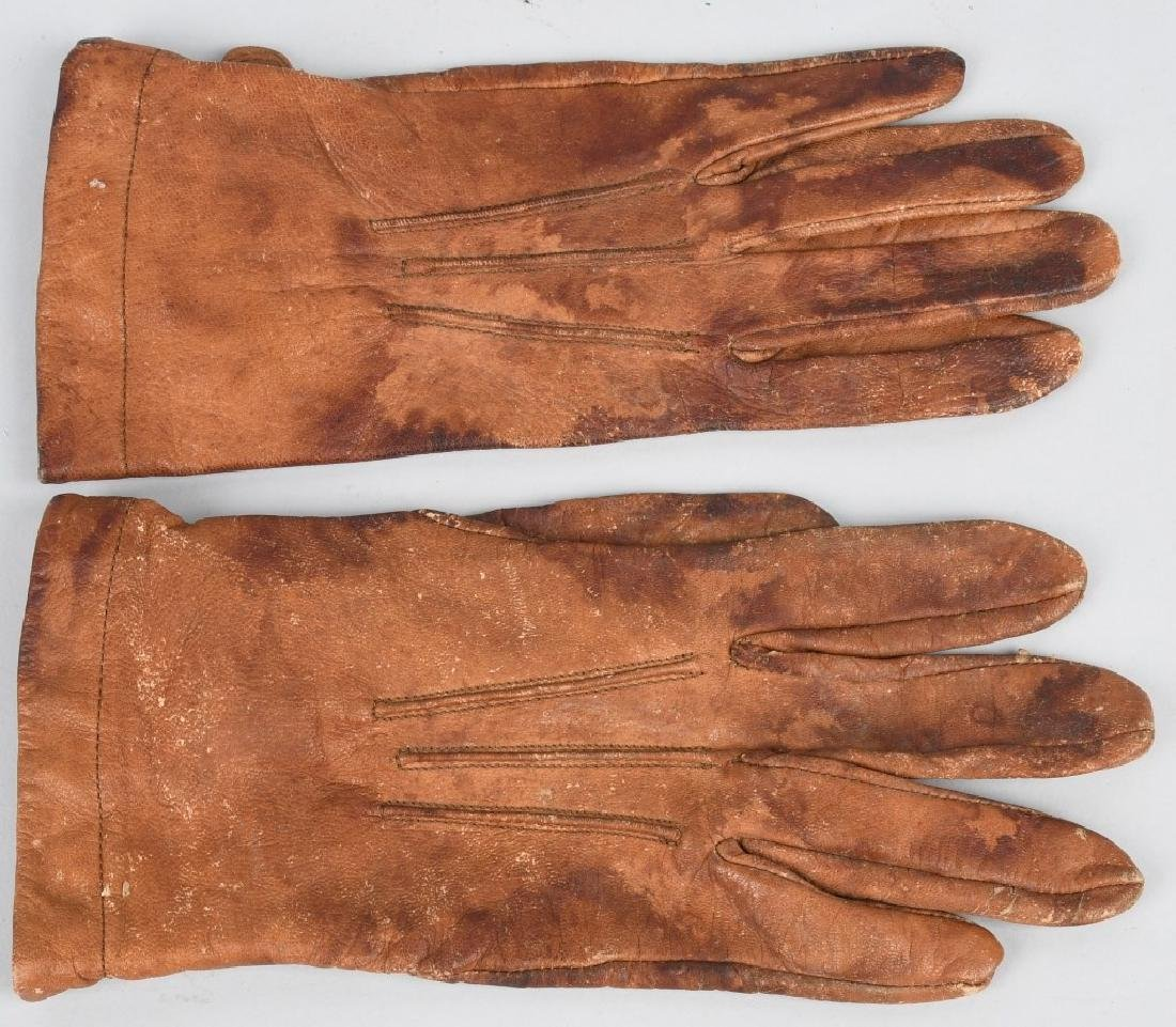 WWII JAPANESE LEATHER PILOT GLOVES - JAPAN