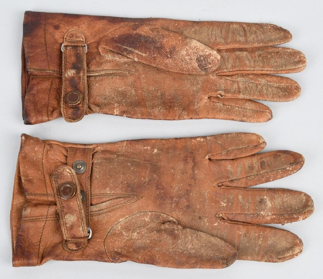 WWII JAPANESE LEATHER PILOT GLOVES - JAPAN - 2
