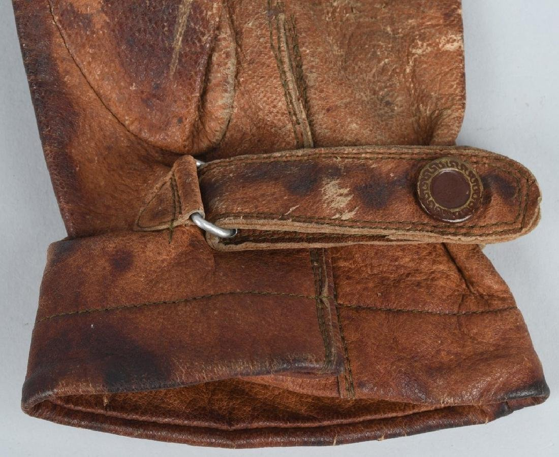 WWII JAPANESE LEATHER PILOT GLOVES - JAPAN - 5