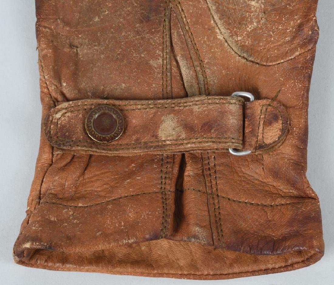 WWII JAPANESE LEATHER PILOT GLOVES - JAPAN - 6