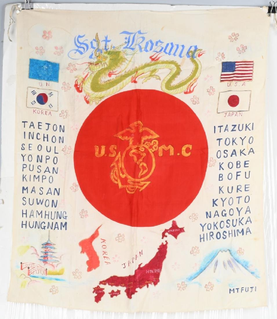 WWII IDED USMC JAPANESE FLAG OCCUPATION & KOREA