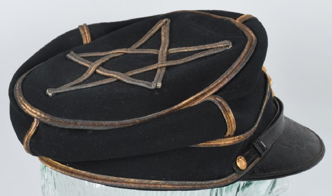 WWII JAPANESE IDED OFFICER DRESS CAP IN ORIG BOX - 4