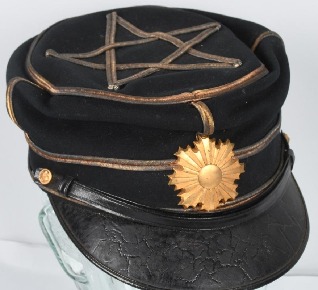 WWII JAPANESE IDED OFFICER DRESS CAP IN ORIG BOX - 5