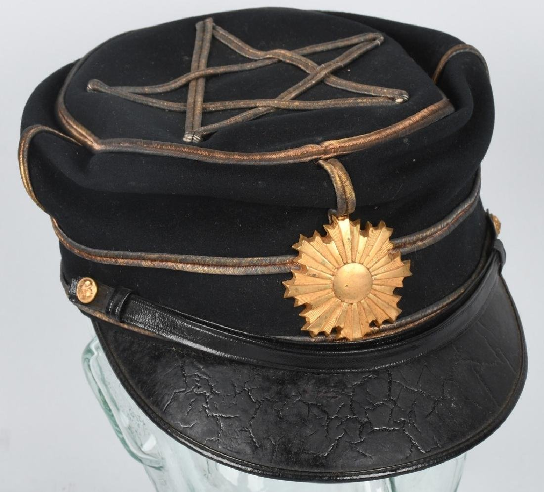 WWII JAPANESE IDED OFFICER DRESS CAP IN ORIG BOX - 6