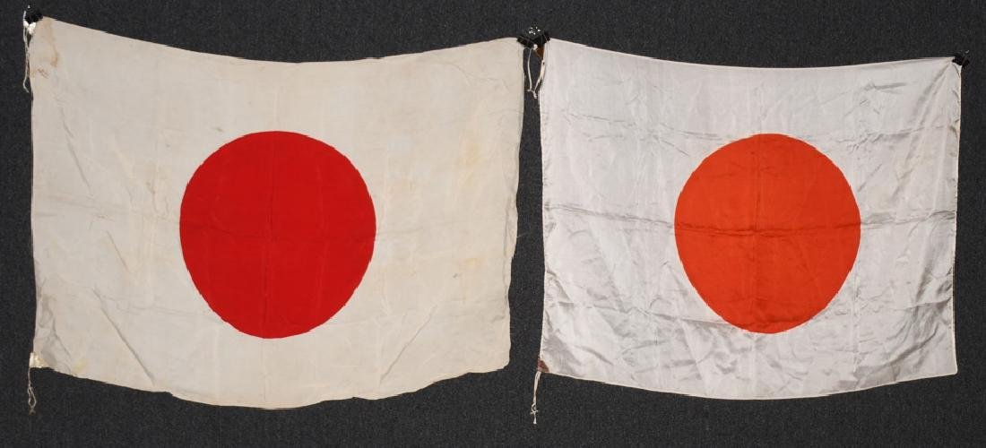 WWII JAPANESE FLAG LOT (2)