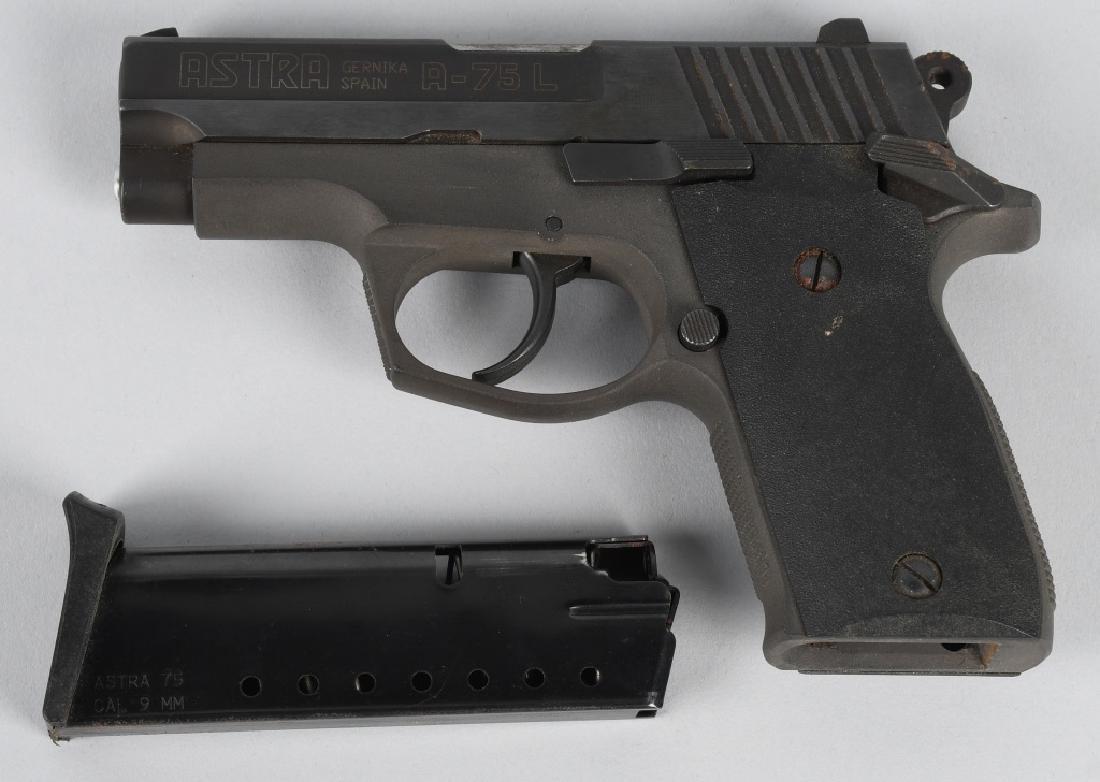 ASTRA SPAIN MODEL A-75L 9mm PISTOL - 3