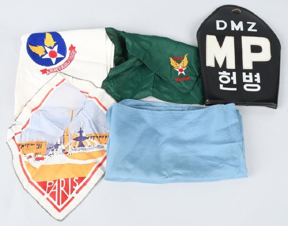 WWII - KOREA U.S. SCARF & ARMBAND LOT