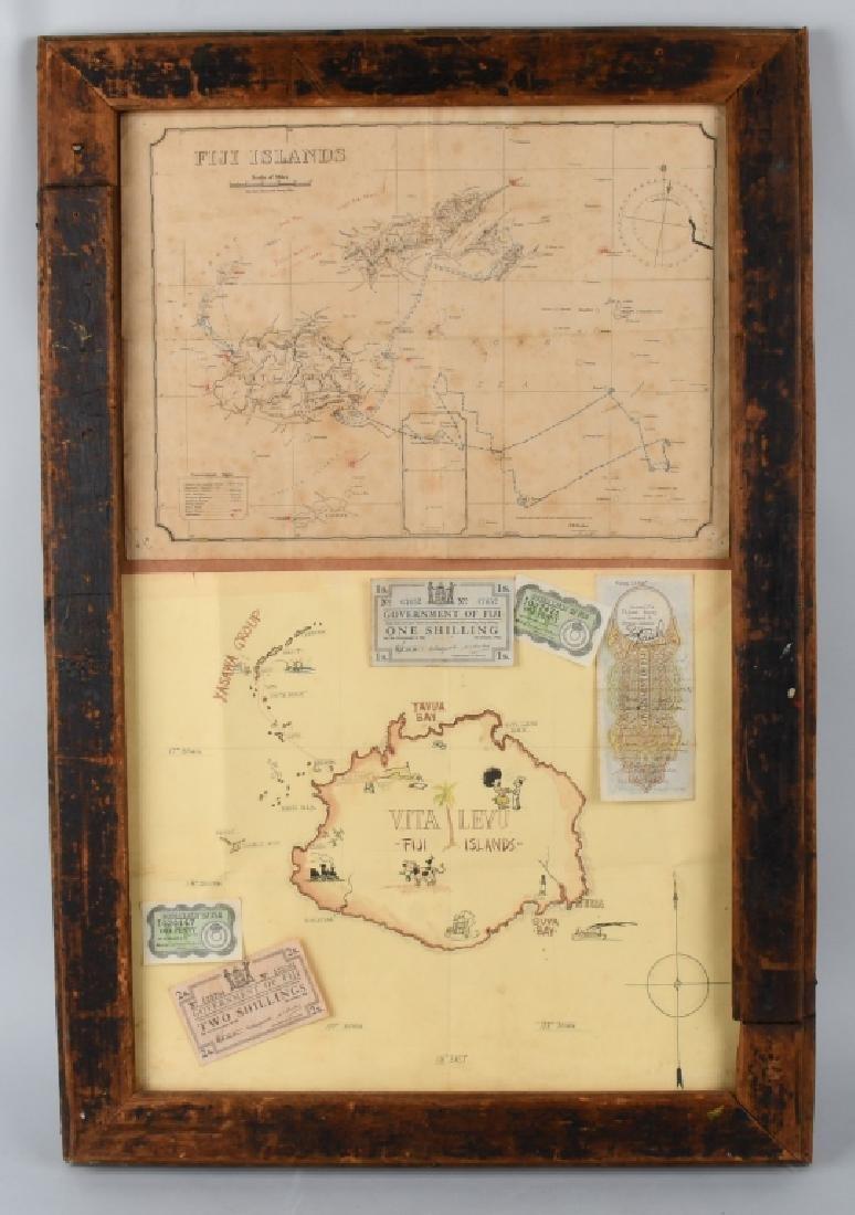 WWII US FIJI ISLAND SOLDIER ART MAPS SHORT SNORTER