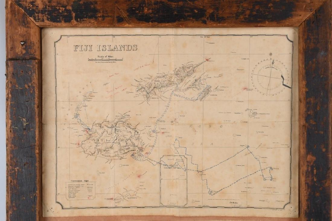 WWII US FIJI ISLAND SOLDIER ART MAPS SHORT SNORTER - 2