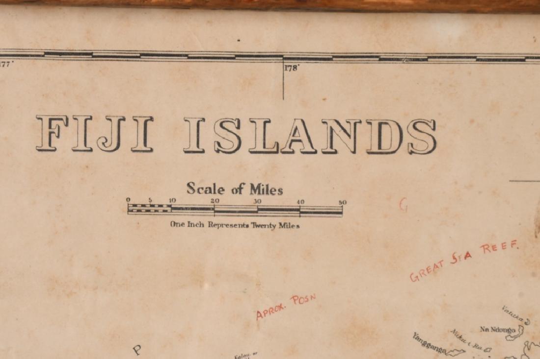 WWII US FIJI ISLAND SOLDIER ART MAPS SHORT SNORTER - 3