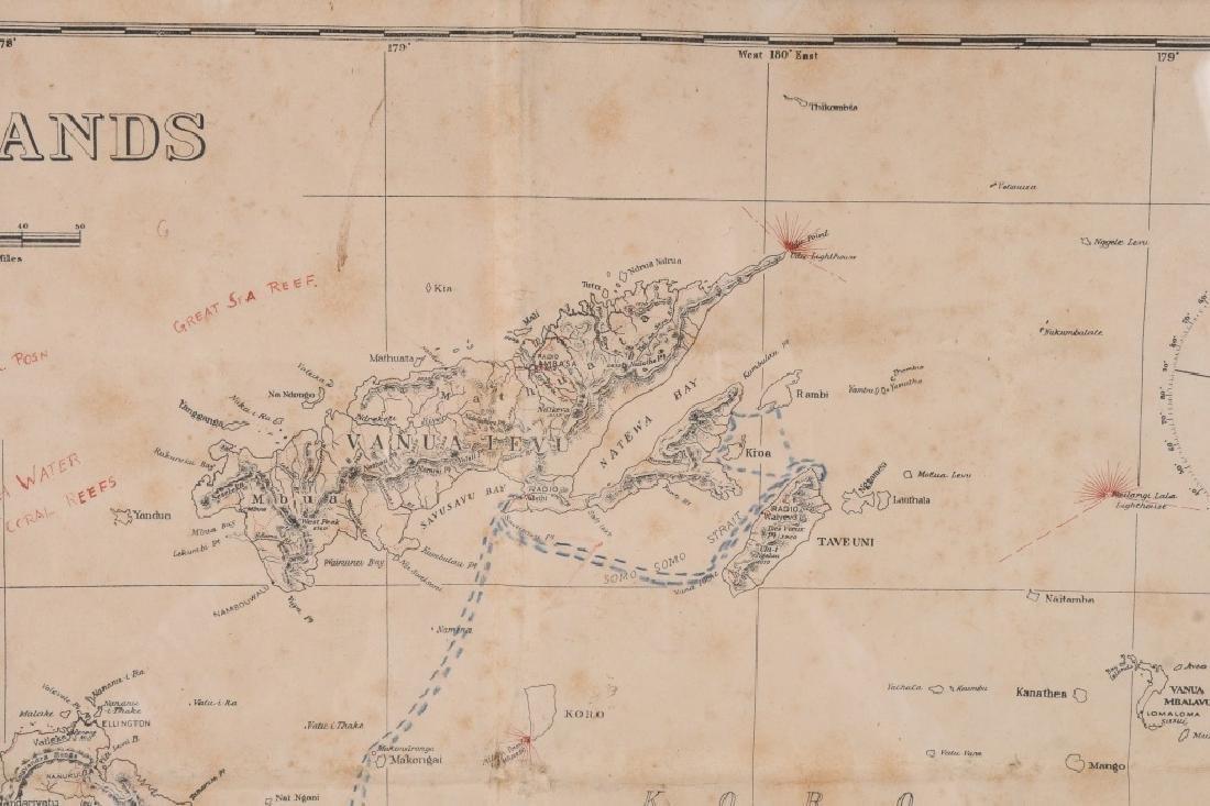 WWII US FIJI ISLAND SOLDIER ART MAPS SHORT SNORTER - 5