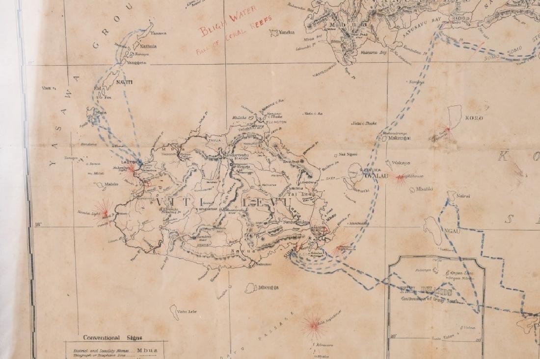 WWII US FIJI ISLAND SOLDIER ART MAPS SHORT SNORTER - 6
