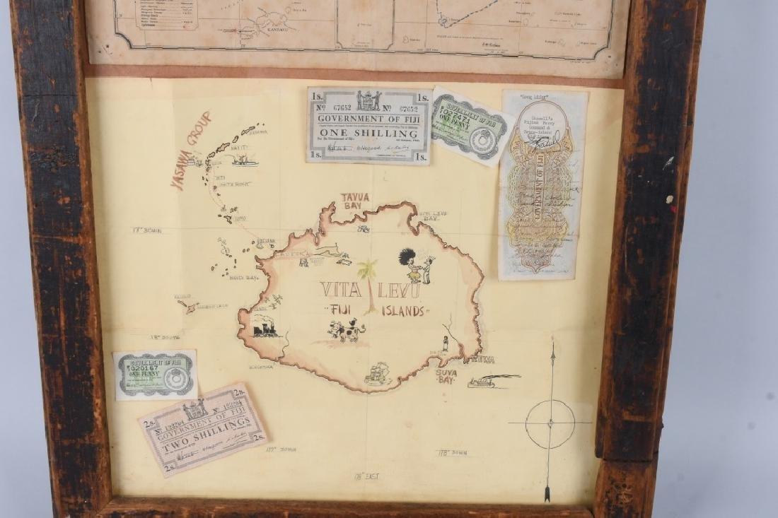 WWII US FIJI ISLAND SOLDIER ART MAPS SHORT SNORTER - 7