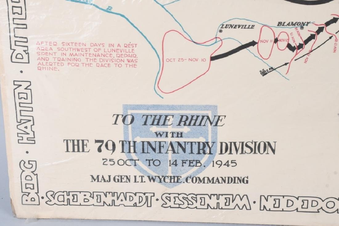 WWII U.S 79TH DIVISION POSTER - PRINTED IN GERMANY - 7