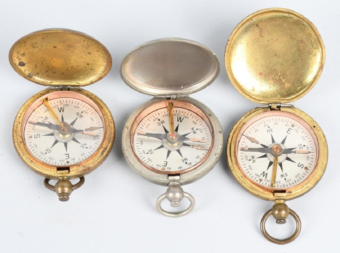 WWII US ENGINEER COMPASS LOT (5) ONE IDED - 2