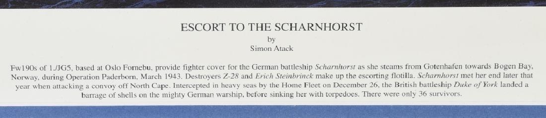 "WWII SIMON ATACK PRINT ""ESCORT TO THE SCHARNHORST"" - 6"