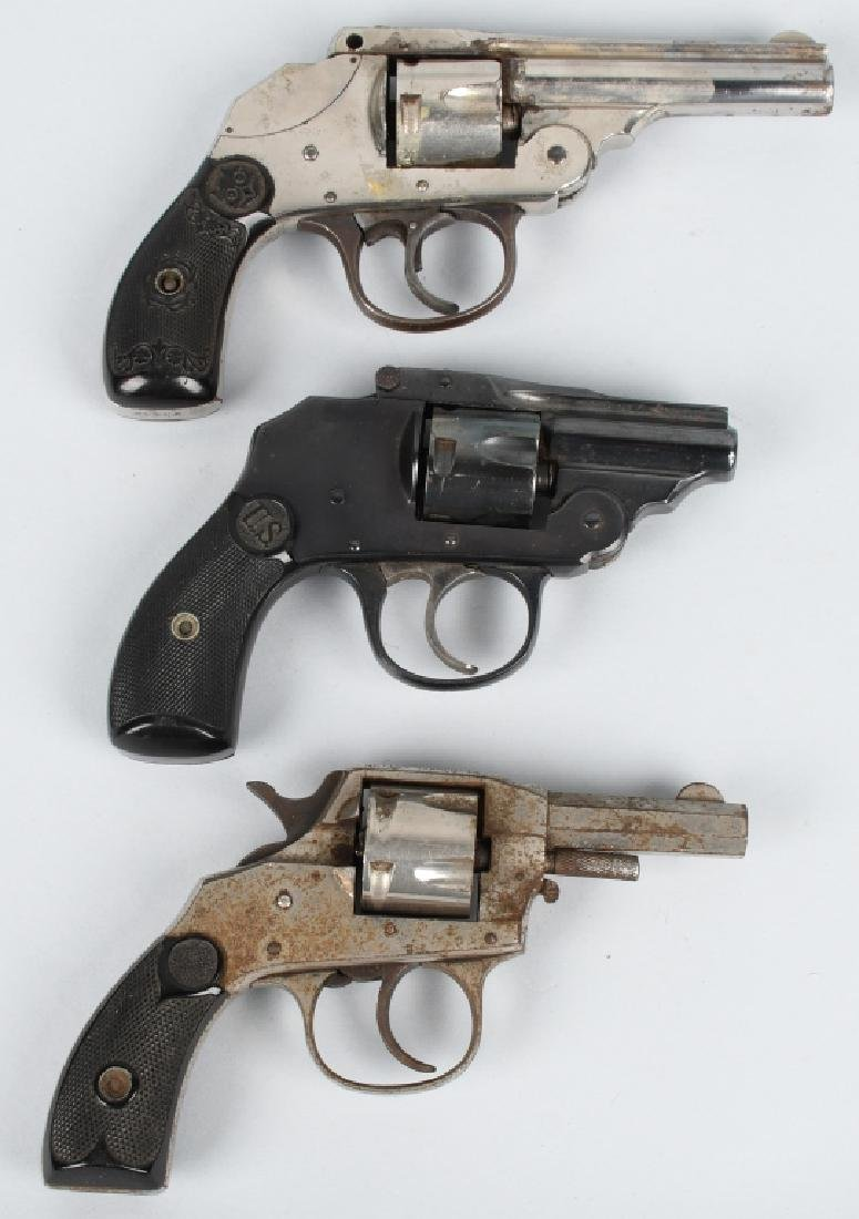 3-REVOLVERS, .32. HOPKINS & ALLEN, and MORE