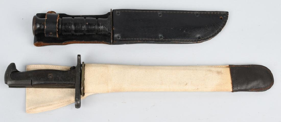 WWII GARAND BAYONET & POST WAR USMC FIGHTING KNIFE - 7