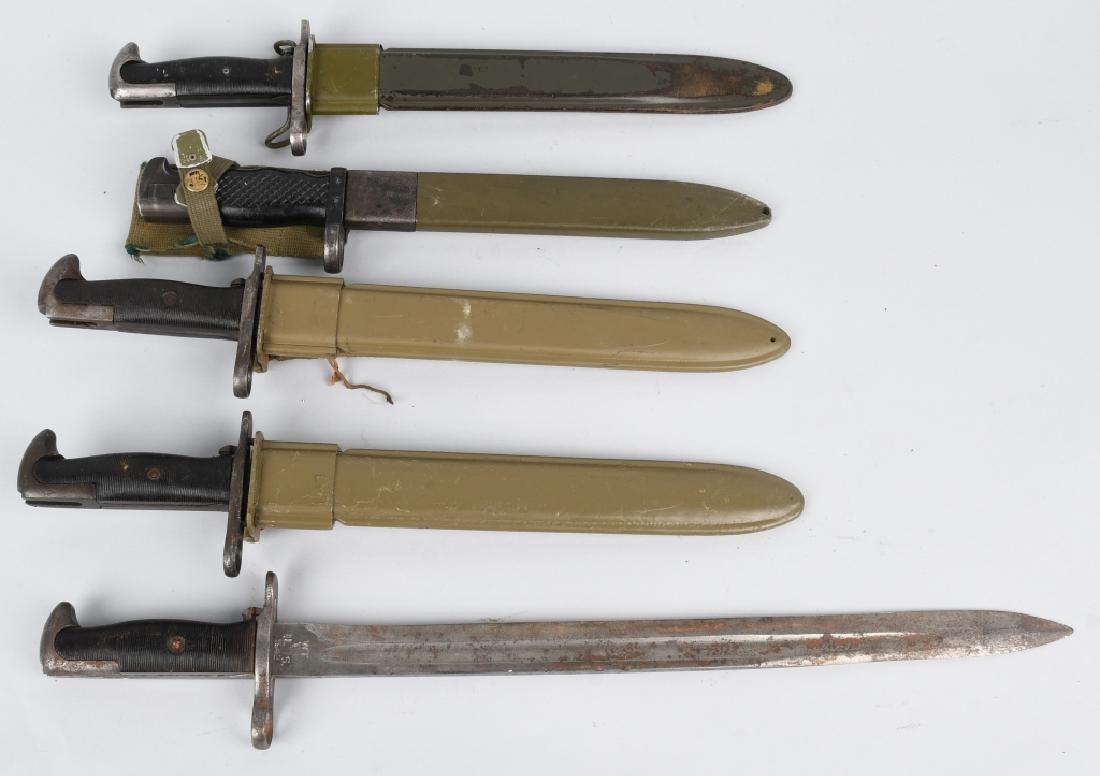 WWII U.S. GARAND & FOREIGN GARAND BAYONET LOT