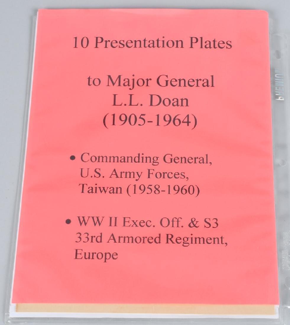 U.S PRESENTATION PLATE SET TO MAJ GENERAL L.L.DOAN - 8