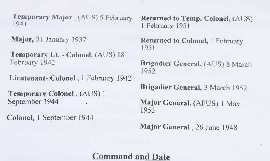 U.S PRESENTATION PLATE SET TO MAJ GENERAL L.L.DOAN - 9