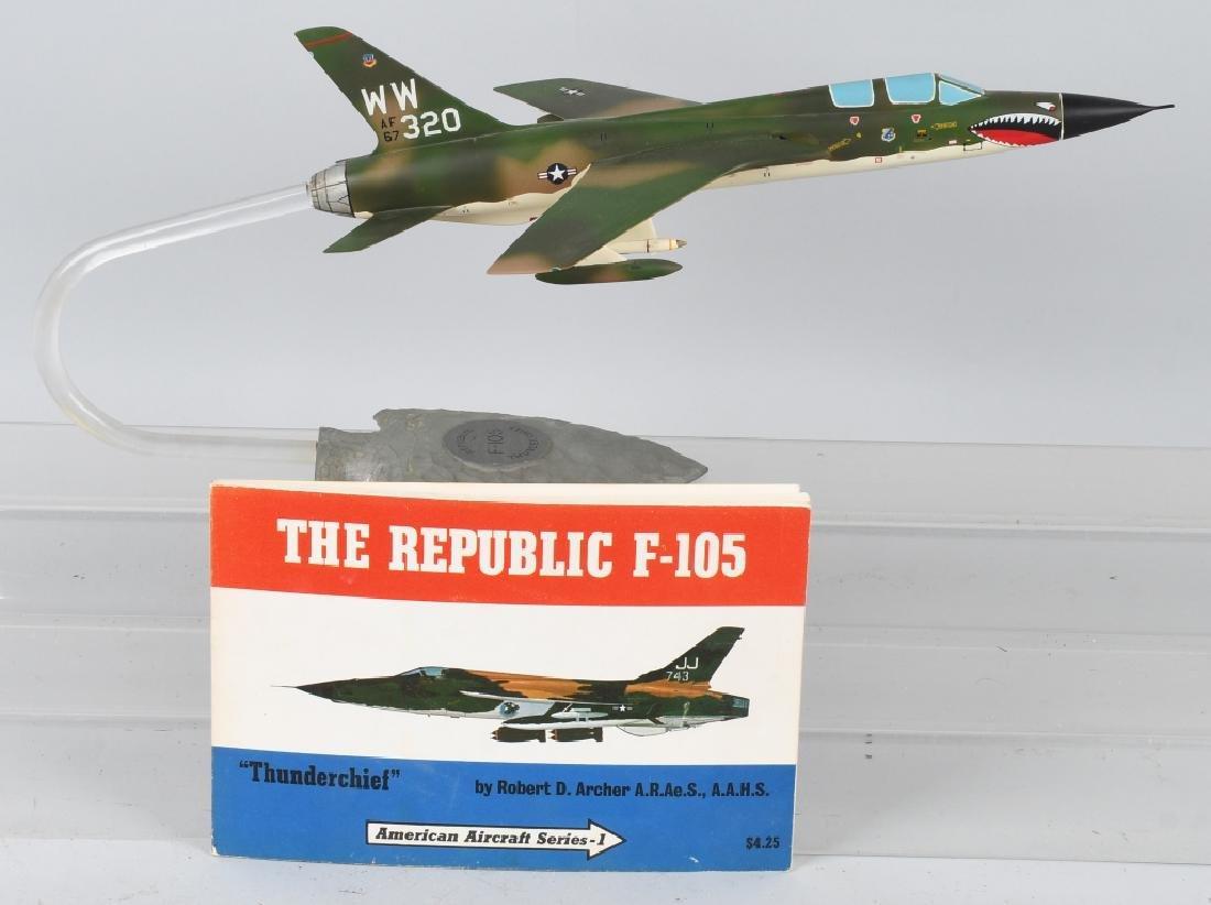 VIETNAM WAR F-105F MODEL GIVEN -100 MISSION PILOTS