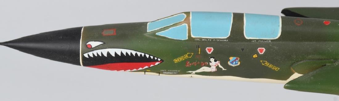 VIETNAM WAR F-105F MODEL GIVEN -100 MISSION PILOTS - 4