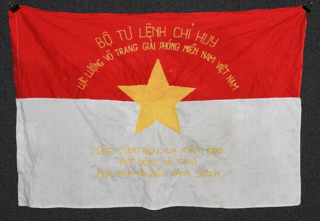 VIETNAM WAR NVA FLAG 1968 - UNIT MARKED