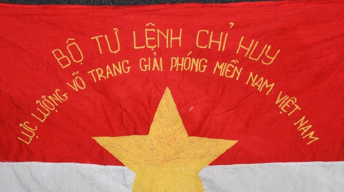 VIETNAM WAR NVA FLAG 1968 - UNIT MARKED - 2