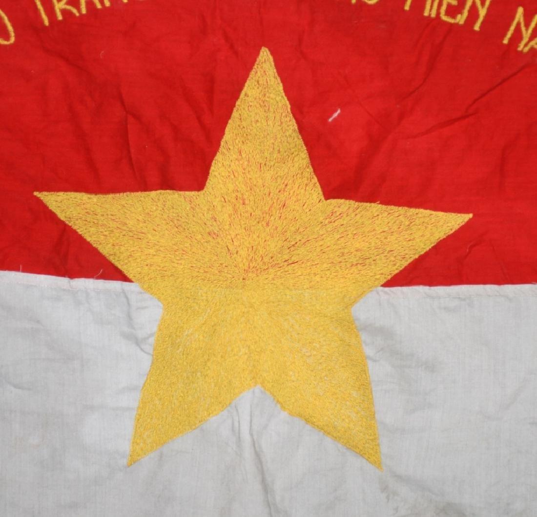 VIETNAM WAR NVA FLAG 1968 - UNIT MARKED - 3