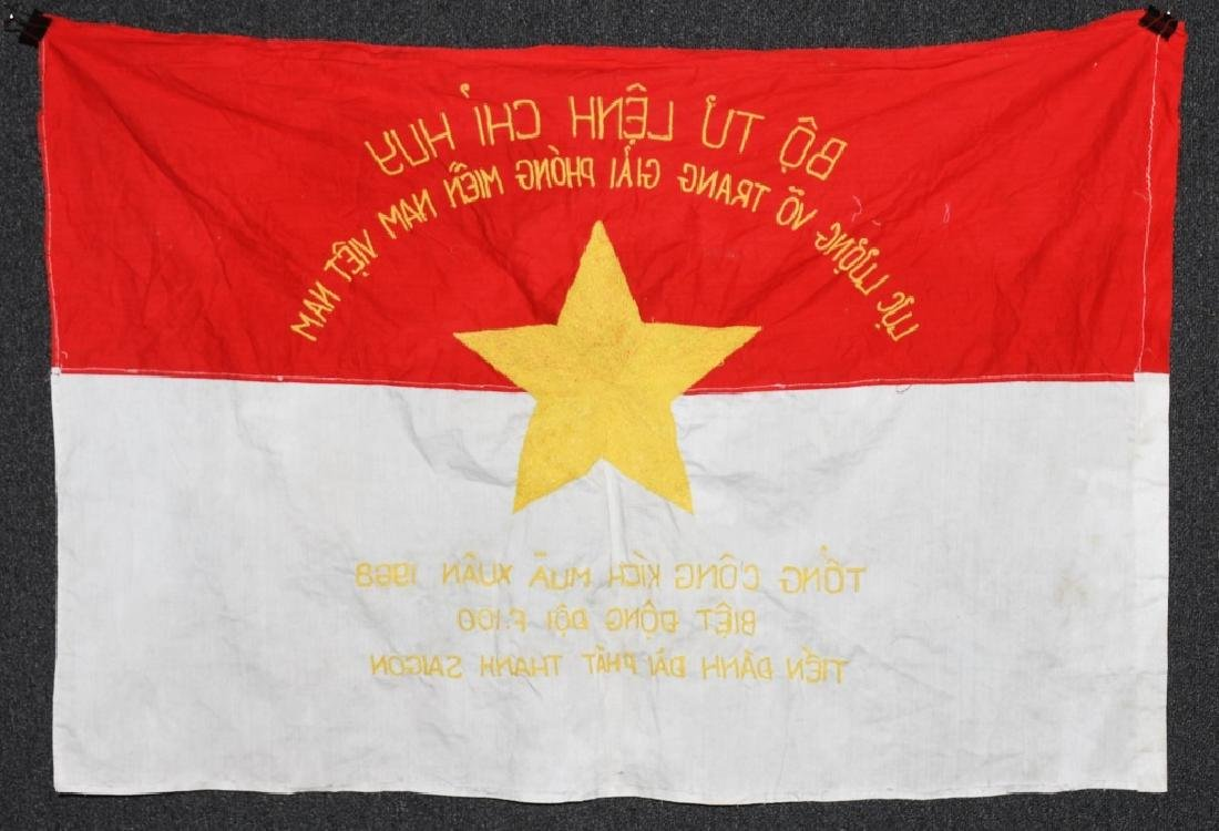 VIETNAM WAR NVA FLAG 1968 - UNIT MARKED - 5