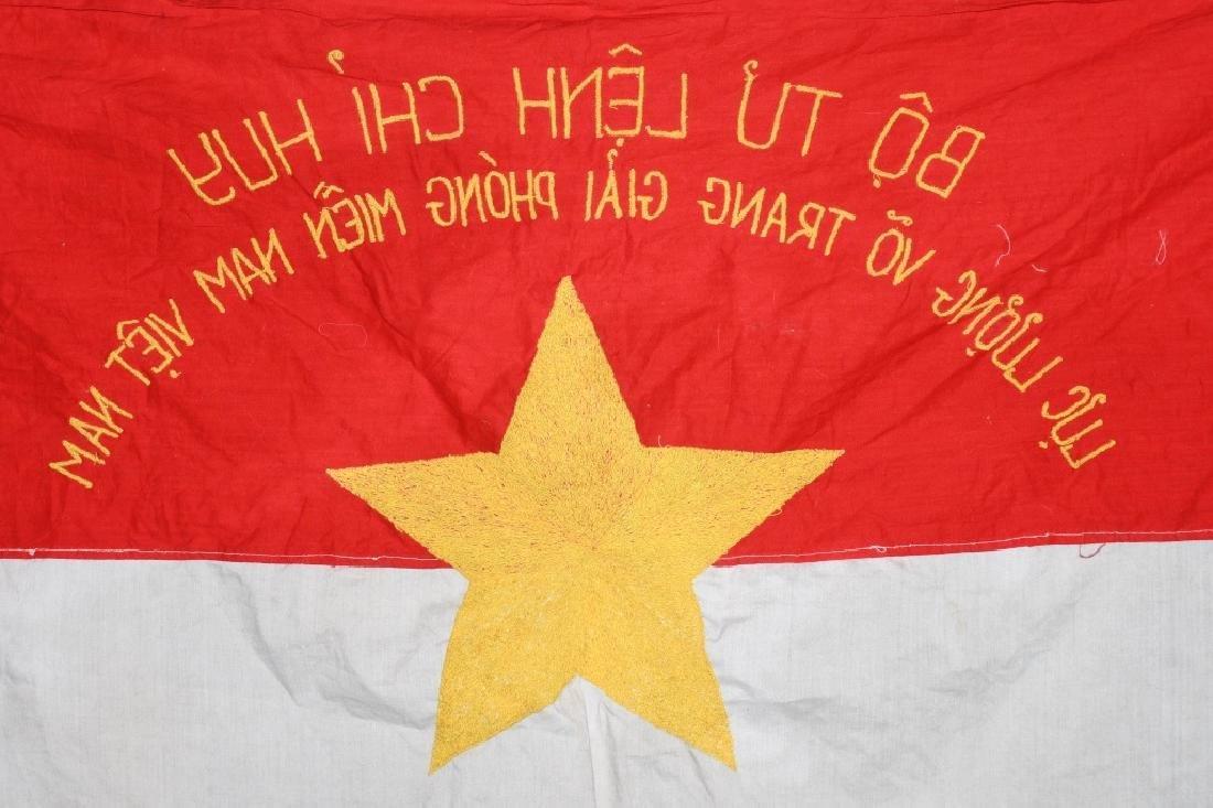 VIETNAM WAR NVA FLAG 1968 - UNIT MARKED - 6