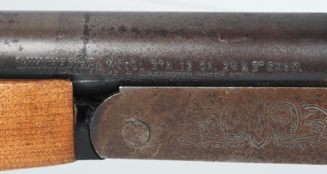WINCHESTER MODEL 37A, SINGLE SHOT 12 GA. SHOTGUN - 9